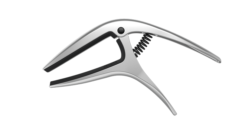 AKORD White Single-handed Guitar Capo Quick Change